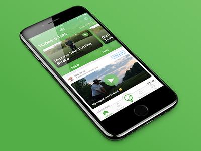 Swing by Swing iOS Redesign gps golf app ui flat sketch ios app