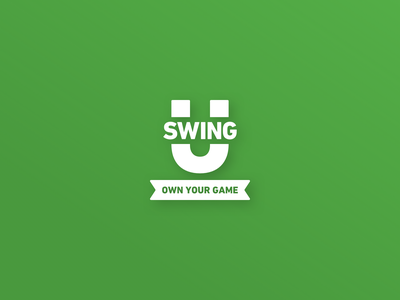 Introducing: SwingU branding golf flat ui sketch logo