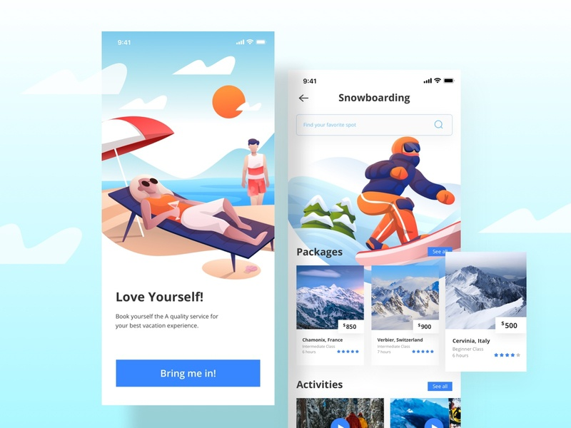 Trip Booking Apps people internet character illustration booking holiday vacation trip mobile ui design product design application design apps application ux ui