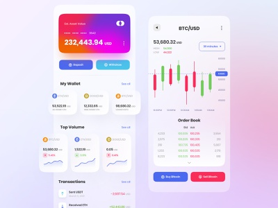 Crypto App Exploration ui mining wallet exploration app design digital wallet bitcoin cryptocurrency crypto wallet crypto