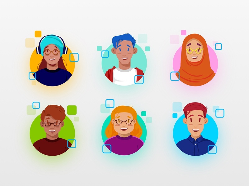 Pixelz Avatars member team designer people avatar profile character icon branding vector art design illustration