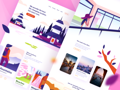 Vacation Trip Landing Page