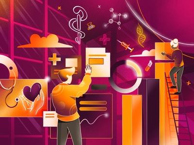 Medical Dashboard Illustration