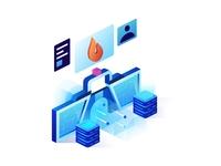 Isometric Firewall