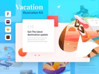 Plesir! Vacation Illustration Kit