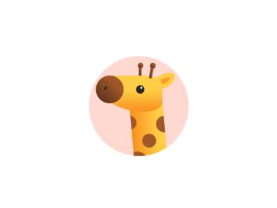 Giraffe animal avatar icon giraffe codevember clean