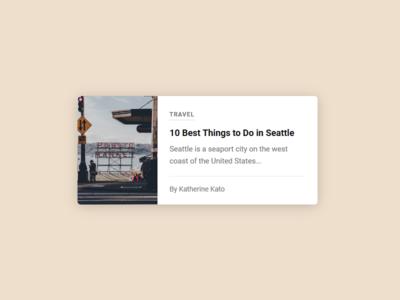 Blog Card card blog clean css grid flexbox javascript web design vue vuejs
