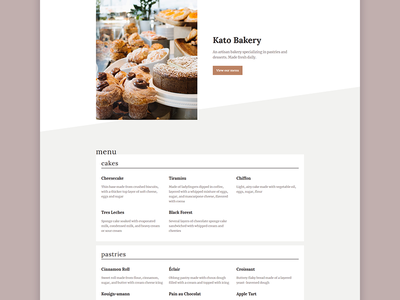 Restaurant Menu code css grid html css web design menu restaurant clean