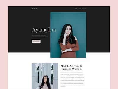 Model web design actress model html css grid css code clean