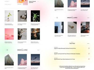 Crowdsays Blog photography minimal clean brutalism typogaphy system web product interface fashion photo post blog post blog cards slider links article journal read