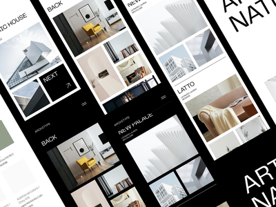 Architype Website & Guide guide interfaces studio minimal architect interior furniture typo logo interface ux ui service agency brutal brutalism clean feed grid mobile