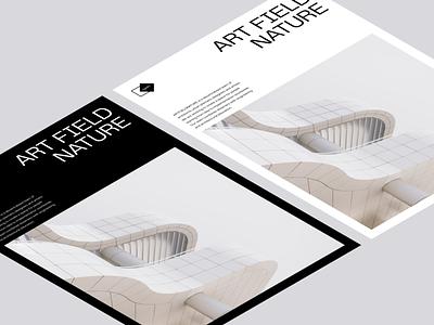 NART brutalism architecture modern vector illustration logo branding ui web dark interface clean minimal