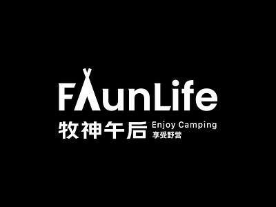 Faunlife logo logo black camping outdoor