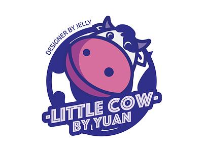 little cow badge purple cow