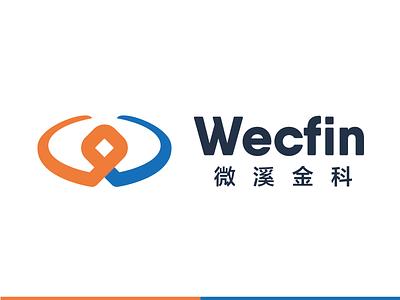 wecfin logo brand visual financial logo
