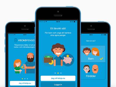 Sign up step parent veckopengen piggy bank money kids money child allowance app sign up