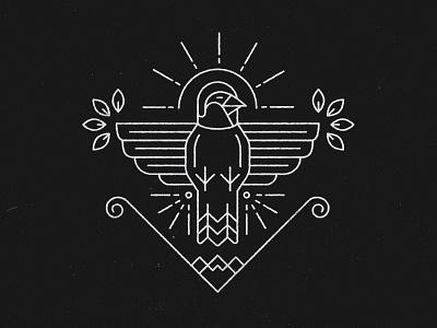 Line sparrow beak wings coat of armor leaf line art line work line sparrow bird