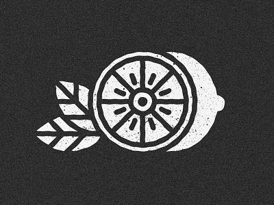 Lemon black and white cut sour leaf line art line style lemon