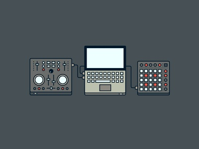 The modern DJ dj icon icons graphic buttons sweden gothenburg computer mac laptop launchpad mix table