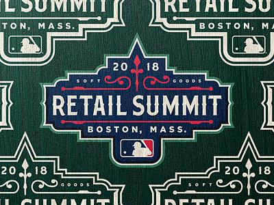 Boston Retail Summit - Branding boston red sox mlb wordmark illustration vector typography logo design gskett branding