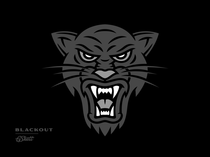 Blackout worldwide 2020 drawing blackout panther illustration vector logo branding design gskett