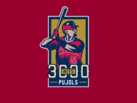 Albert Pujols 3000 Hits Logo
