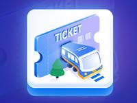 Train Ticket Game Art