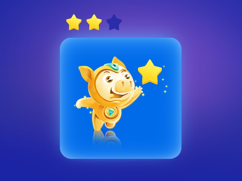 Happy Pig - Saving Game Art running pig running game art game star finance money saving golden gold saving pig happy