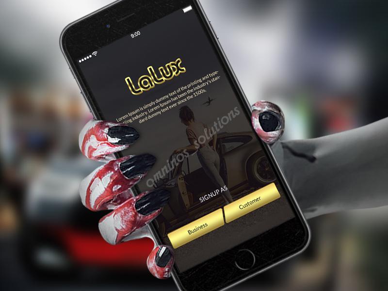 Sign Up Screen Mockup Design