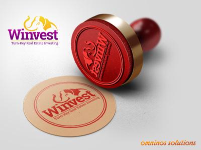 Winvest Real Estate App Logo Mockup