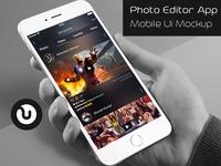 Photo editor app mockup
