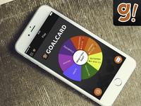 Goalcard App Mockup