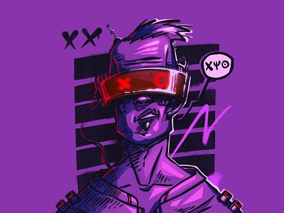 CyberPunk cyberpunk 2077 cyberpunk character illustration digital illustration art digitalart art