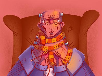 Frank monster character illustration digital illustration art digitalart art