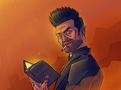 Preacher fanart preacher dc character illustration digital illustration art digitalart art