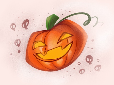 Pumpkin head character illustration digital illustration art digitalart art