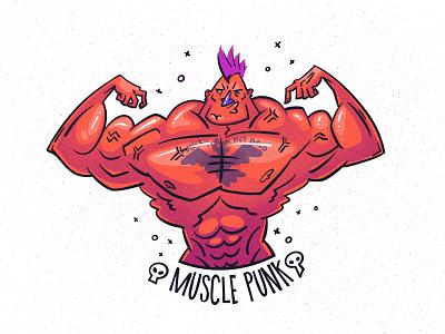 Muscul Punk character illustration digital illustration art digitalart art