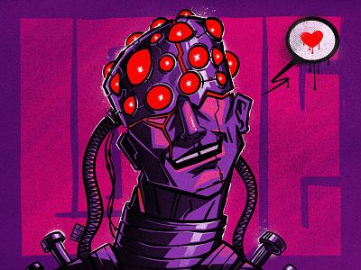 CyberLover character illustration digital illustration art digitalart art