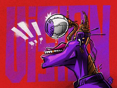 CyberEye comics cyberpunk character illustration digital illustration art digitalart art