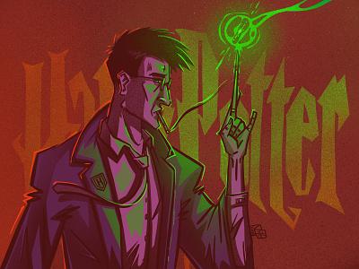 Old Harry harrypotter character illustration digital illustration art digitalart art