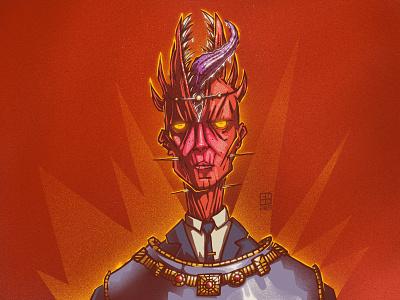 The Minister of Important Matters monster character illustration digital illustration art digitalart art
