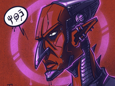 Alien character illustration digital illustration art digitalart art