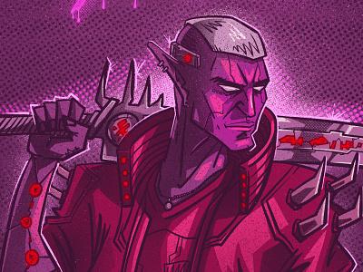 Cybercraft noise cyberpunk character illustration digital illustration art digitalart art