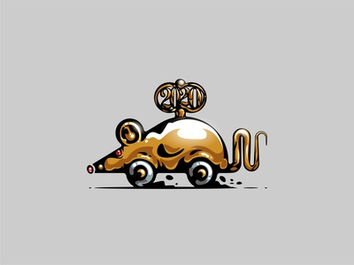 Happy golden rat new year