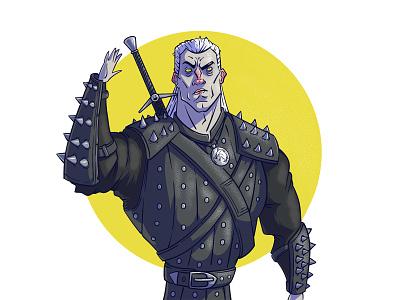 Witcher vectorart witcher fanart illustration illustration art art digital digitalart