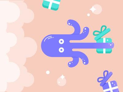Octopus gifts giftshop illustrator illustration vector octopus graphic design