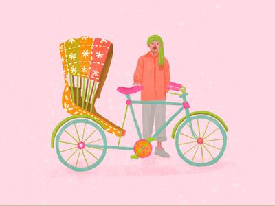 Wallah color adobe rikshaw rik riksha india brushes photoshop illustration