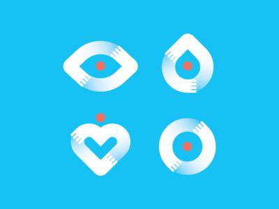 Dr.Jeevanjyot Bahia shapes medical indianama logo india illustrator icon graphic design identity system branding