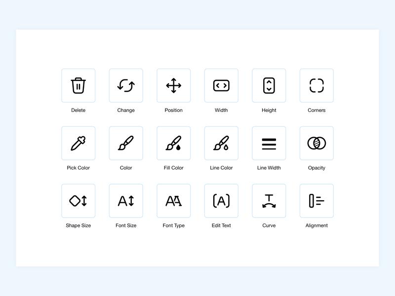 Wix Logo Maker graphic design logo build logo maker iconography wix uxui icons pack icon set icon design stroke icons adobe illustrator minimal ui design