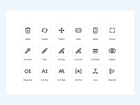Wix Logo Maker graphic design logo build logo maker iconography wix uxui icons pack icon set icon design stroke icons adobe illustrator minimal ui design